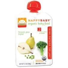 Happy Baby Stage 2 Broccoli, Peas & Pear (6+month) 西蘭花豌豆香梨蔬菜蓉